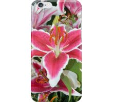 Pink lily flowers iPhone Case/Skin