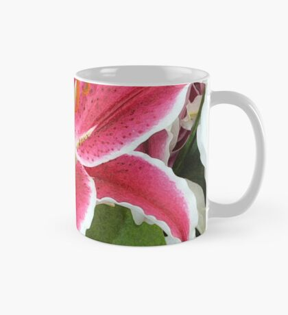 Pink lily flowers Mug
