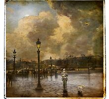 Charlie and Jacques at la Place de la Concorde by dawne polis