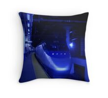 The Providence to Boston Blues Throw Pillow