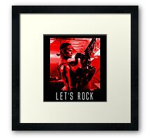 Let's Rock Framed Print