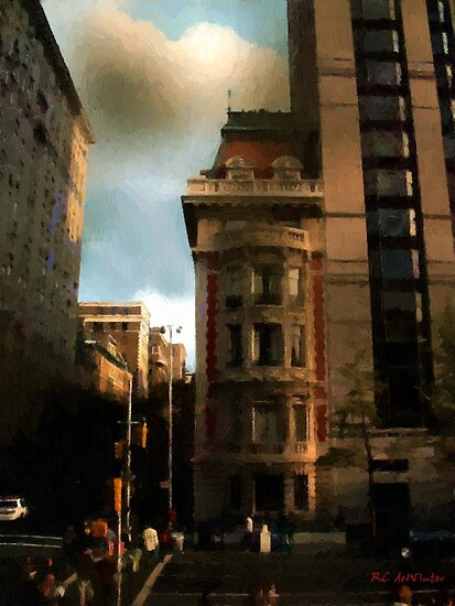 Sunlight Slant on Midtown by RC deWinter