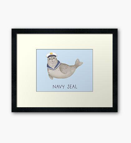 Navy Seal Framed Print