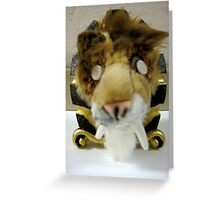 Saber Cat Picture Frame Greeting Card