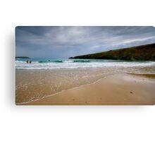 Moody Trevone Surf Canvas Print