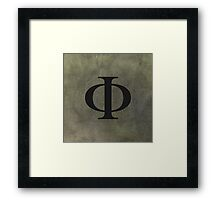 PHI Wall Art Framed Print