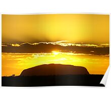 Ayres rock at dawn Poster