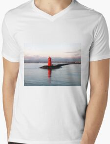 Dublin Harbour Lighthouse Mens V-Neck T-Shirt
