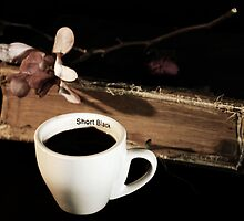 Old Book and Black Coffee by Evita
