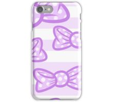Purple Bows iPhone Case/Skin