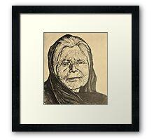 elder woman Framed Print