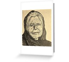 elder woman Greeting Card