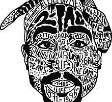 Tupac Shakur by litleangel