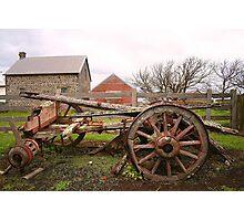 Broken Wagon Photographic Print