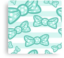 Turquoise Bows Canvas Print