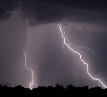Backyard Lightning by Dennis Jones - CameraView