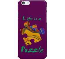 Life is a puzzle, green  iPhone Case/Skin