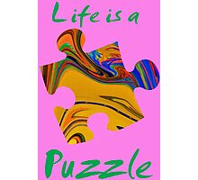 Life is a puzzle, green  Photographic Print