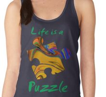 Life is a puzzle, green  Women's Tank Top