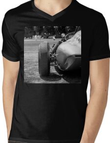 Classic racing #56 car sits in front of cricket match Mens V-Neck T-Shirt