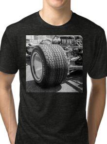 Vintage racing car tire Tri-blend T-Shirt