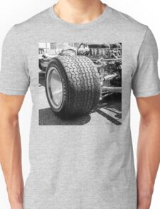 Vintage racing car tire Unisex T-Shirt