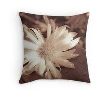monocrome flower  Throw Pillow