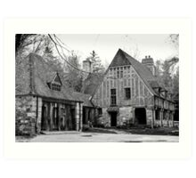 Spooky old house Art Print