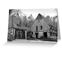 Spooky old house Greeting Card