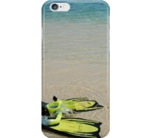 Yellow Flippers and Snorkel at Waters Edge iPhone Case/Skin