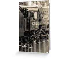 Historic locomotive 92212 Greeting Card