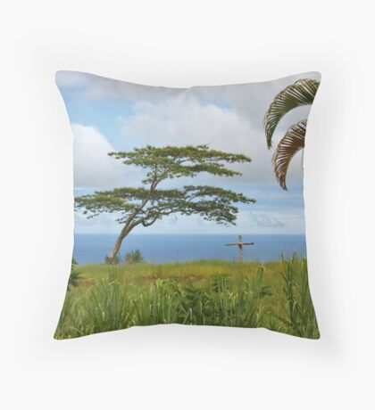 Finding Peace in Paradise Throw Pillow