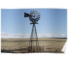 Wind Mill on the Plains Poster