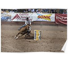 Barrel Racing 2 Pikes Peak or Bust Rodeo Poster