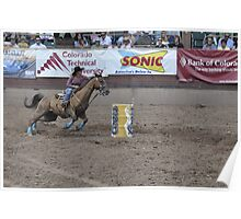 Barrel Racing 3 Pikes Peak or Bust Rodeo Poster