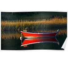 Red Boat Mirror Poster