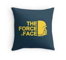 The Force Face (yellow) Throw Pillow