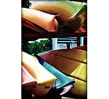 Retro Kayaks Photographic Print