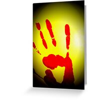 You've Caught Me Red Handed Greeting Card