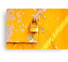 Locked on Yellow Canvas Print