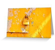 Locked on Yellow Greeting Card