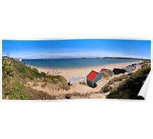 Abersoch beach hut Panoramic Poster