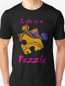 Life is a puzzle, red T-Shirt