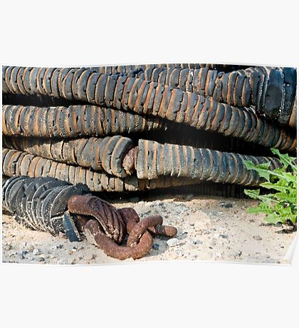 Rusty, Crusty, Fishing Boat Hose Poster