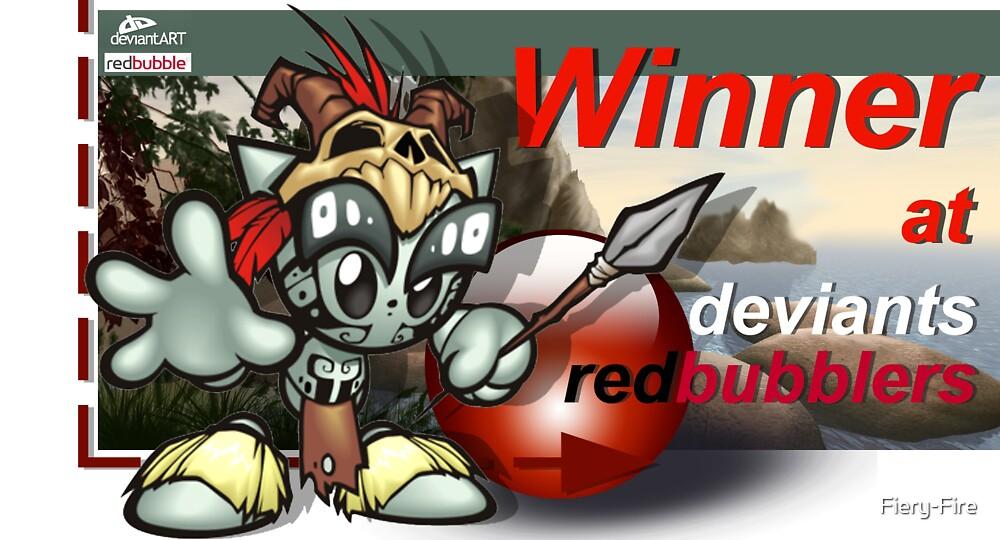 DeviantsRedbubblers - WINNER banner by Fiery-Fire