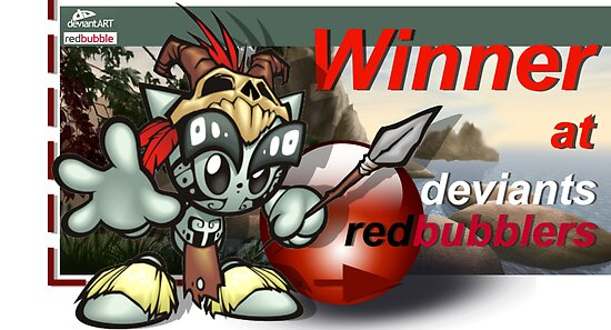 DeviantsRedbubblers - WINNER banner by Fiery-Fire