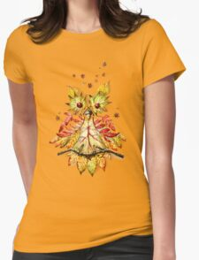 Foliage owl Womens Fitted T-Shirt