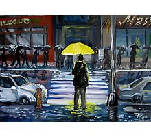 Yellow umbrella part 1 Photographic Print