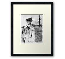 Buster Keaton by John Springfield Framed Print