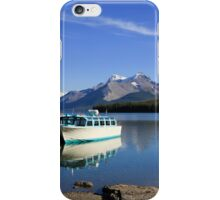 Boat and Maligne Lake iPhone Case/Skin